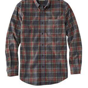LL Bean Scotch Plaid Flannel Shirt Men's Medium